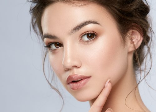 Woman with smooth skin after BOTOX® Cosmetic treatments