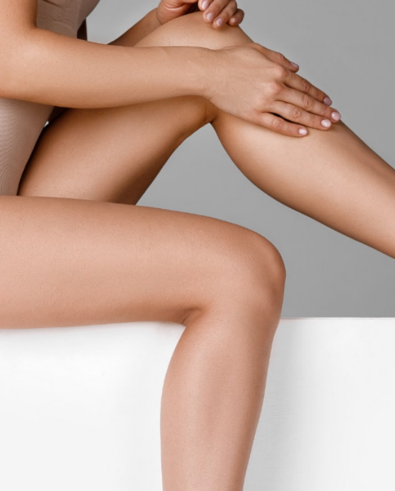 Close-up on a woman's legs