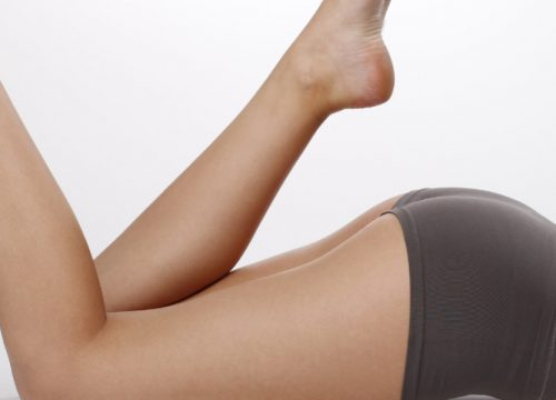 Woman's butt and legs after Qwo® cellulite treatments