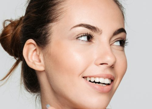 Woman with great skin after an Oxygen Facial