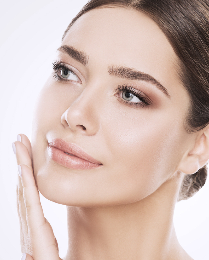 Woman with great skin after IPL photofacial treatments