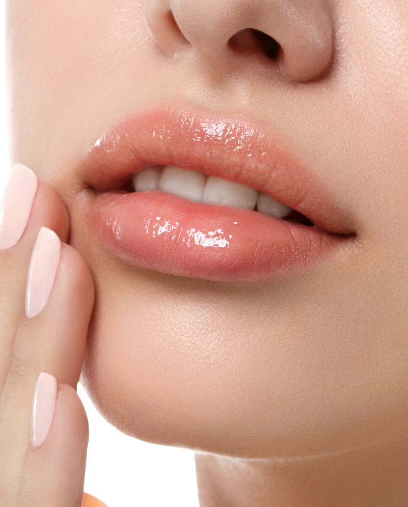Close=up on a woman's lips