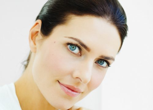 Brunette woman with under-eye circles